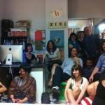 Bizzarra presentazione a Roma: su un letto dentro la libreria Scripta Manent